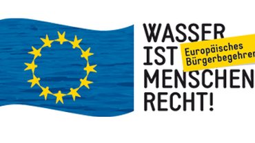 Logo der Kampagne: Wasser ist Menschenrecht