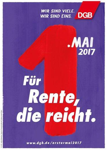 Motivplakat Rente DGB 1. Mai 2017
