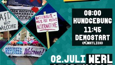 Aufruf zur Demo gegen die AfD / den AfD-Landesparteitag am 02. Juli in Werl
