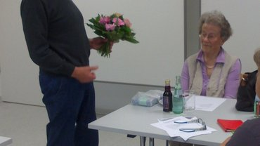Gerd Stapelfeldt verabschiedet Hanna Haussels