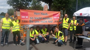 Eskalation bei OBI: Solidaritätsaktion in Düsseldorf am 11.07.2016