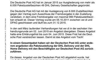 Post-Info vom 08.06.2015