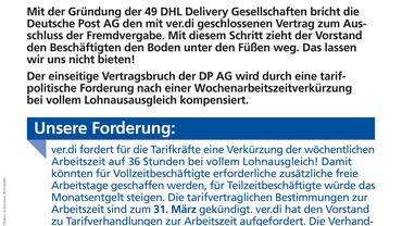 Vertragsbruch der Deutschen Post AG