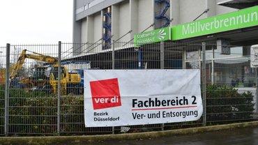 Warnstreik Müllverbrennungsanlage Stadtwerke Düsseldorf