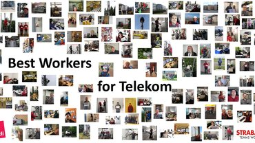 "Plakat ""Best Workers for Telekom"" STRABAG PFS"