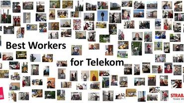 "Plakat ""Best Workers for Telekom"" STRABAG PFS"