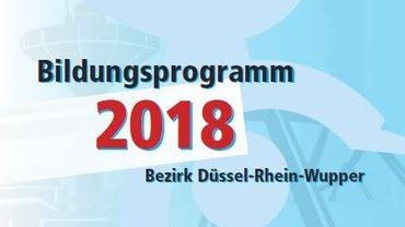 Bildungsprogramm 2018 ver.di Bezirk Düssel-Rhein-Wupper - Teaser