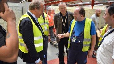 Frank Bsirske besucht Aktionswoche bei Rheinbahn am 24.06.2016