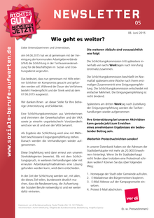 SuE-Newsletter vom 08.06.2015