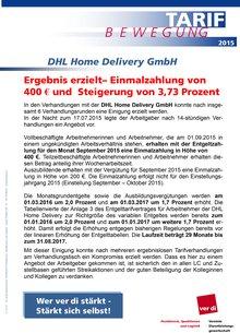 DHL-Info vom 20.07.2015