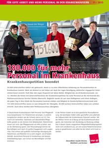 180.000 für mehr Personal im Krankenhaus
