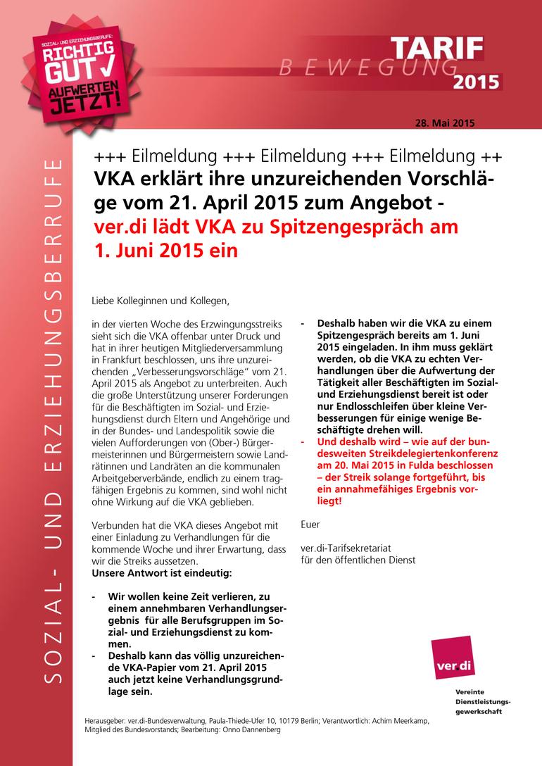 SuE-Info vom 28.05.2015