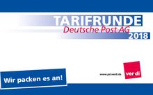 Logo der Tarifrunde Deutsche Post 2018