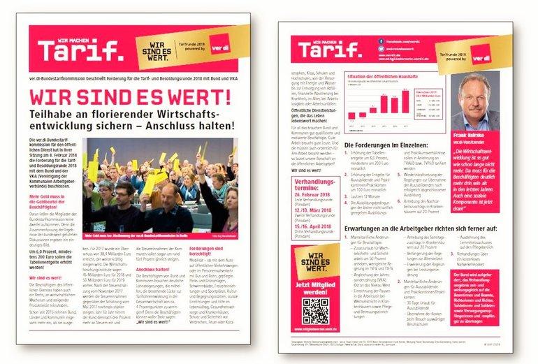 Flugblatt Forderung TröD Februar 2018
