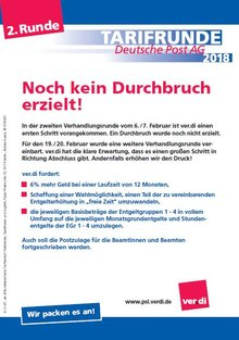 Tarifinfo Deutsche Post AG 07.02.2018