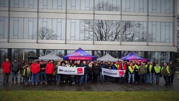 Warnstreik bei der Telekom am 22.03.208 am Standort Düsseldorf Am Seestern