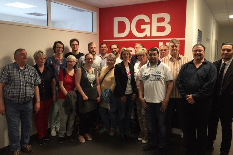 Der Vorstand des Ortsvereins Wuppertal, 23. April 2018