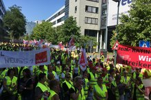 real-Streik in Düsseldorf