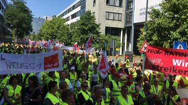 real-Streik in Düsseldorf
