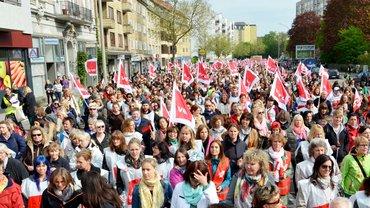 Aufwertungskampagne Sozial- und Erziehungsberufe, Streik,