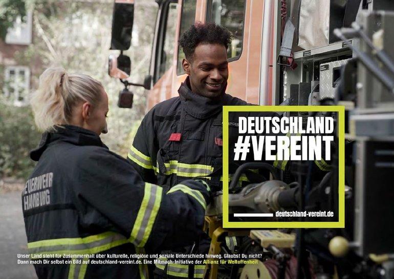 deutschland #vereint Beispielmotiv Arbeit - Feuerwehr