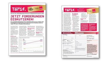 Flug­blatt Auf­takt For­de­rungs­dis­kus­si­on - Teaserformat