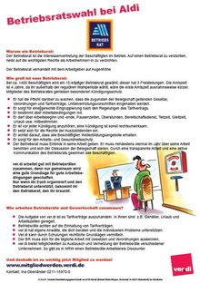 Flugblatt Betriebsratswahl Aldi-Süd