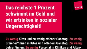 Plakat Reichtum umverteilen - Teaserformat