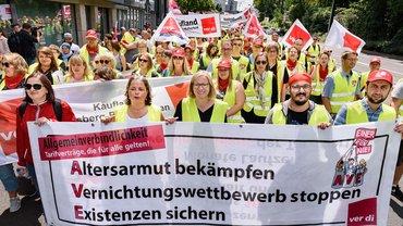 Streiktag Handel in Düsseldorf