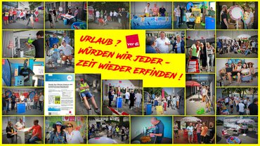 Collage Aktionswoche Urlaub 2019 im LFB 9 NRW