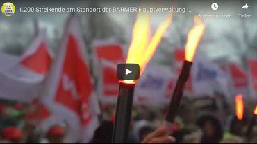Warnstreik BARMER 12.02.2020 in Wuppertal - Startbild Youtube-Clip