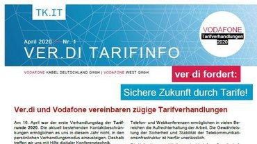 Tarifinfo 1 Vodafone Tarifbewegung 2020 - Teaserformat