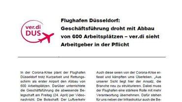 ver.di-Info Arbeitsplatzabbau Flughafen Düsseldorf - Teaserformat