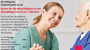 Bonus für die Beschäftigten in der Altenpflege - Teaserformat
