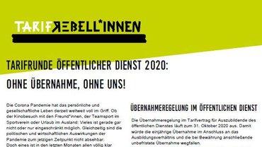 ÖD-Flugblatt: Ohne Übenahme - Ohne uns! - Teaserformat