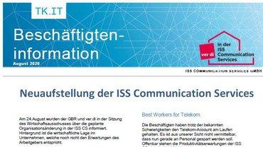 2020-08 Beschäftigteninfo Neuaufstellung ISS Communication Services - Teaserformat