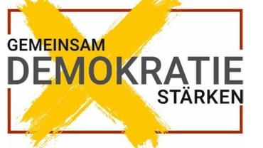 Gemeinsam Demokratie stärken! - Logo des Bündnis zur Kommunalwahl