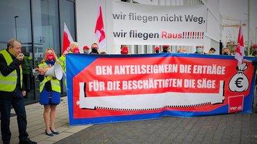 Demo am Flughafen Düsseldorf, 28.09.2020