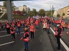Warnstreik Sparkasse Wuppertal am 02.10.2020