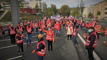 Warnstreik bei der Sparkasse in Wuppertal am 2.10.2020