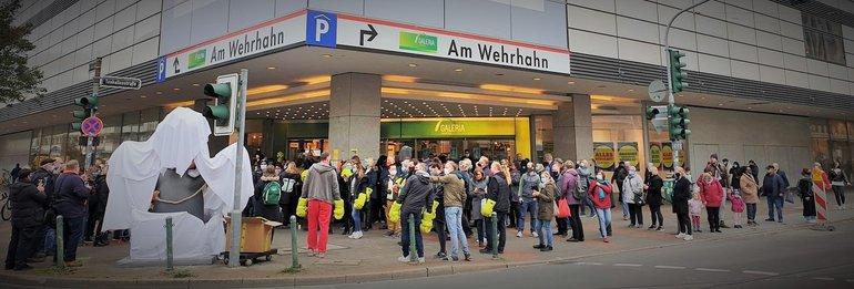 Schließung Kaufhof Düsseldorf Am Wehrhahn am 17.10.2020