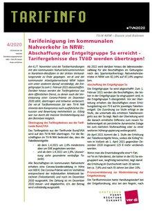 Flyer Verhandlungsergebnis TV Nahverkehr NRW - Seite 1 von 2