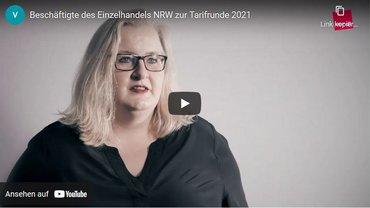 Startbild Video Beschäftigte Einzelhandel NRW zu Forderungen Tarifrunde 2021
