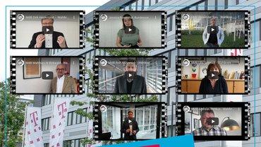 Collage Startbilder Statements aus NRW zur Ausbildungsquote Telekom