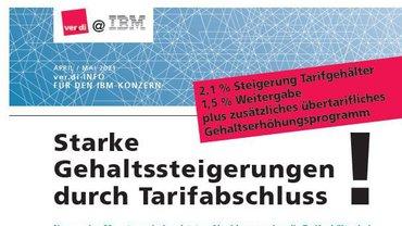 ver.di @ IBM Kurzinfo Tariftabellen 2021 - Teaser