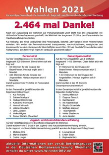 Flyer Ergebnisse Wahlen DRV Rheinland - Seite 1 von 2