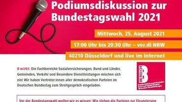 Einladung zur hybriden Podiumsdiskussion am 28. August 2021 - Teaser